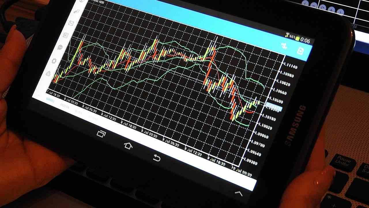 Un grafico economico su mobile