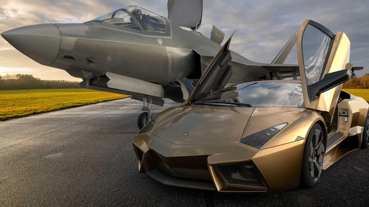 Lamborghini con jet