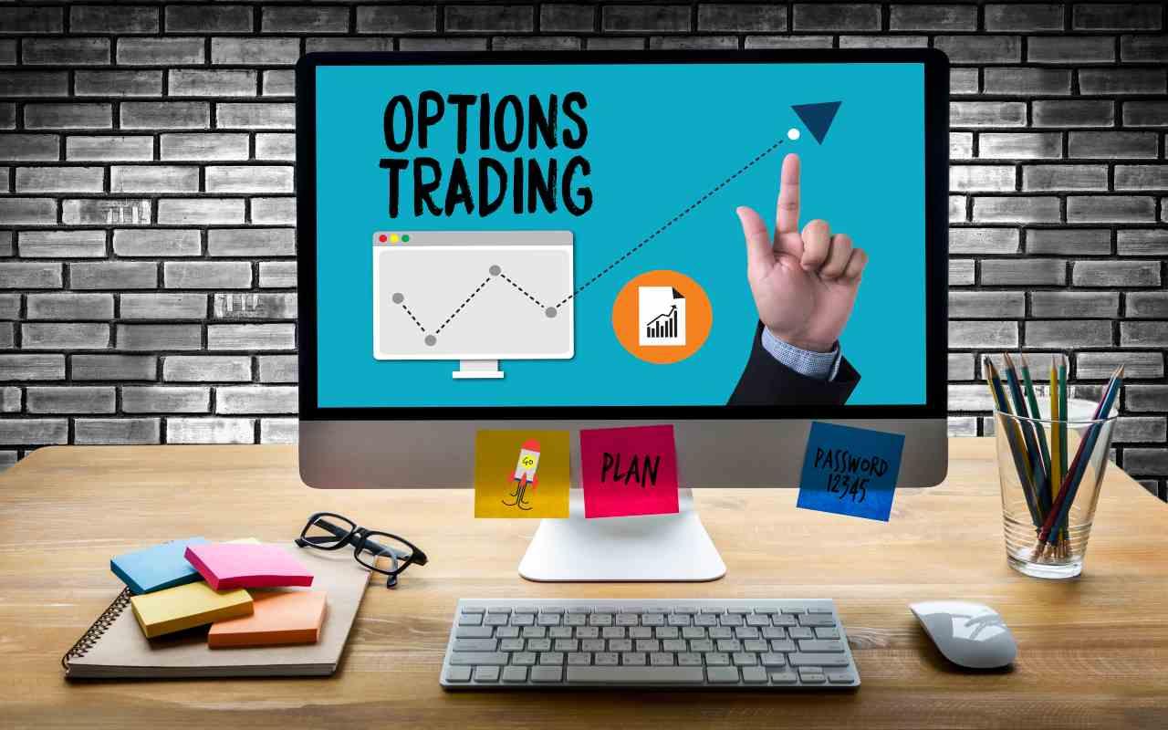 Uno schermo con le opzioni nel trading