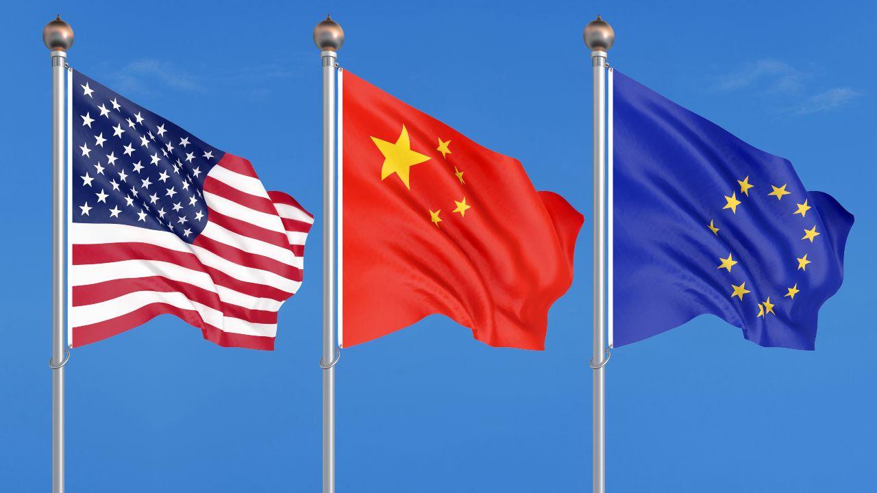 bandiere USA CINA UE
