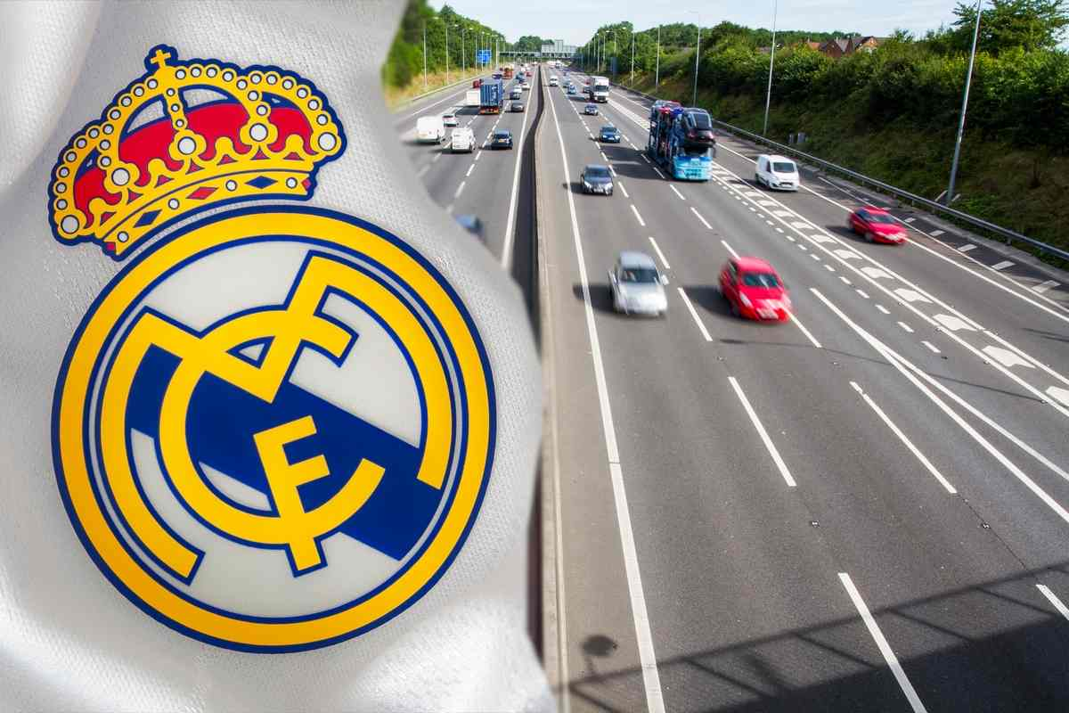 Autostrade e logo Real Madrid (AdobeStock)