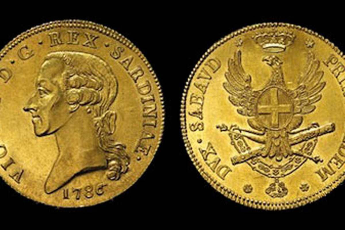Carlino da 5 doppie di Vittorio Amedeo III di Savoia