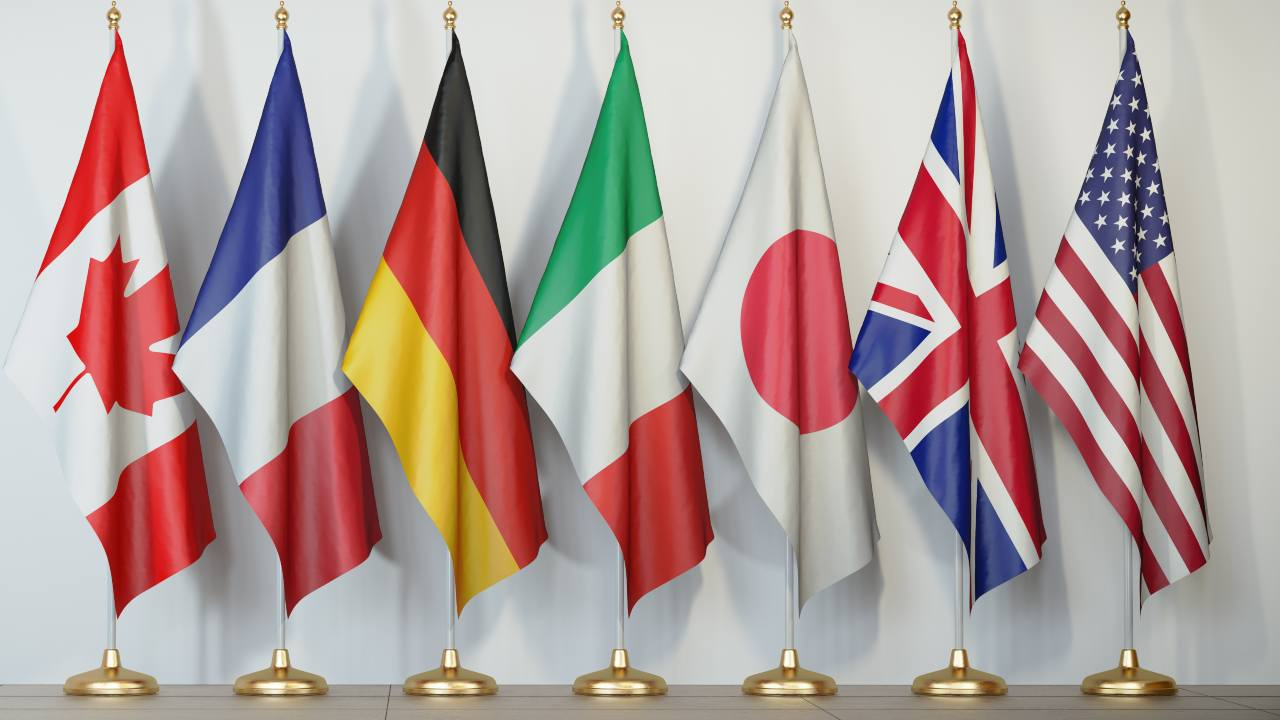 Bandiere paesi G7