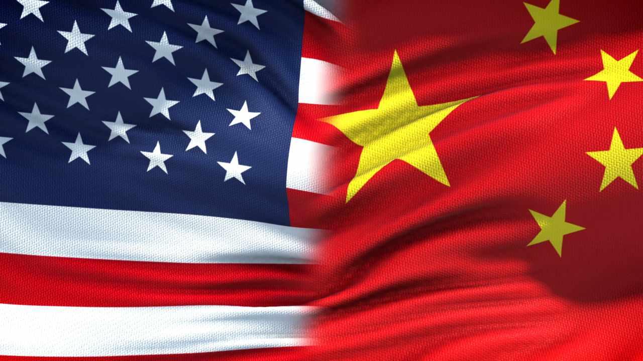 Bandiere USA e Cina