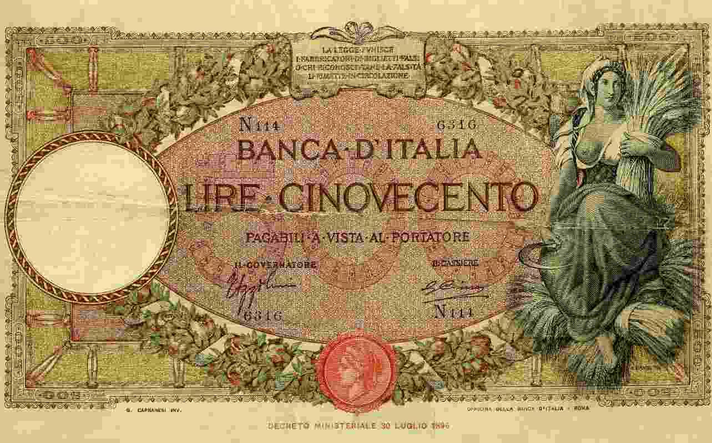 500 lire banconota